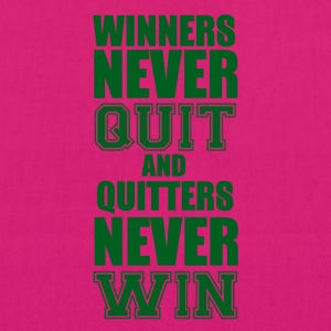 Football: Winners never quit and quitters never win - EarthPositive Tote Bag