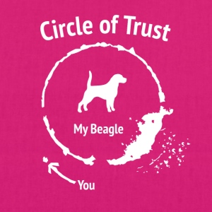 Funny Beagle Shirt - Circle of Trust - Øko-stoftaske