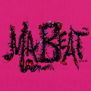 MA BEAT 2 illustrationer ved BEATZ.Art font design - Øko-stoftaske