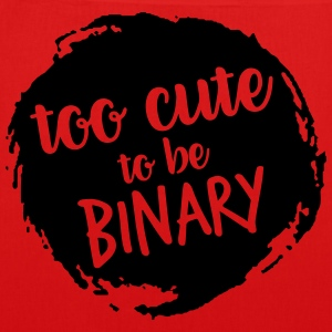 Too cute to be binary - EarthPositive Tote Bag