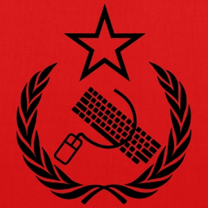The keyboard and mouse Communist - Geek Flag - EarthPositive Tote Bag