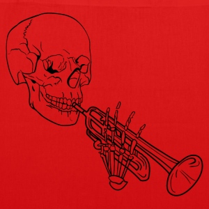 Skeleton with Trumpet - EarthPositive Tote Bag