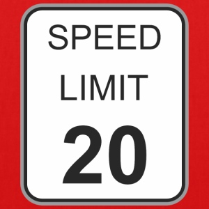 Road sign speed limit 20 - EarthPositive Tote Bag