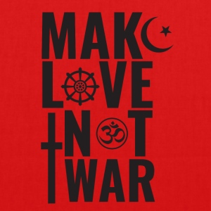 Make Love Not War - Bio-stoffveske