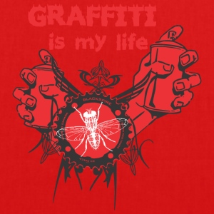graffiti is my life - EarthPositive Tote Bag