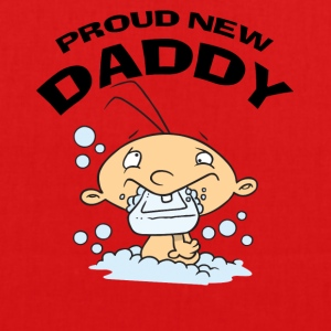 Proud New Daddy (PERSONALIZE ADD DATE YEAR) - EarthPositive Tote Bag