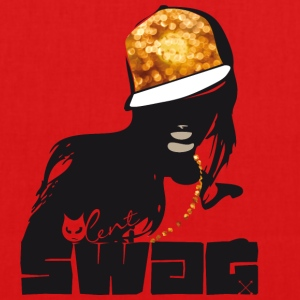 swag gold black woman rap gangster boss hot sexy - Bio-Stoffbeutel