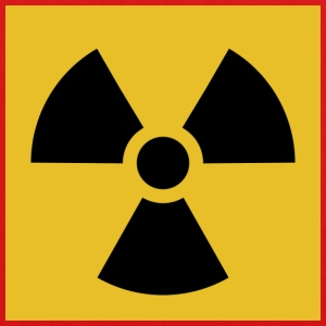 Radiation warning - Bio-Stoffbeutel