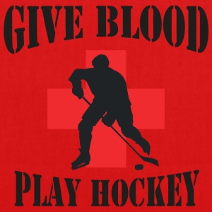 Hockey Give Blood Play Hockey - EarthPositive Tote Bag