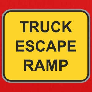 Road sign truck escape ramp - EarthPositive Tote Bag
