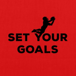 Football: Set your Goals - EarthPositive Tote Bag