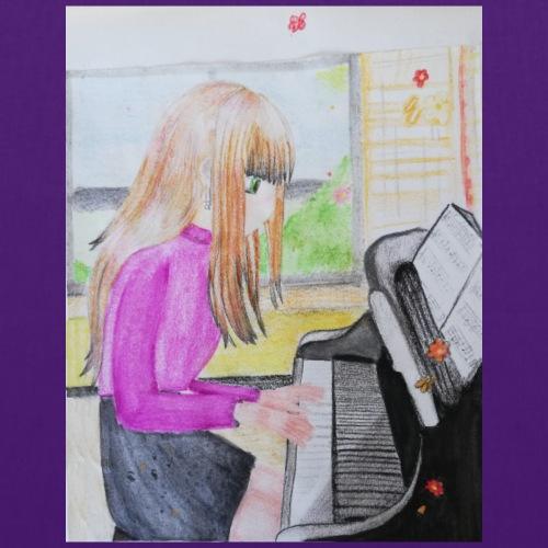 maedchen am klavier - Stoffbeutel