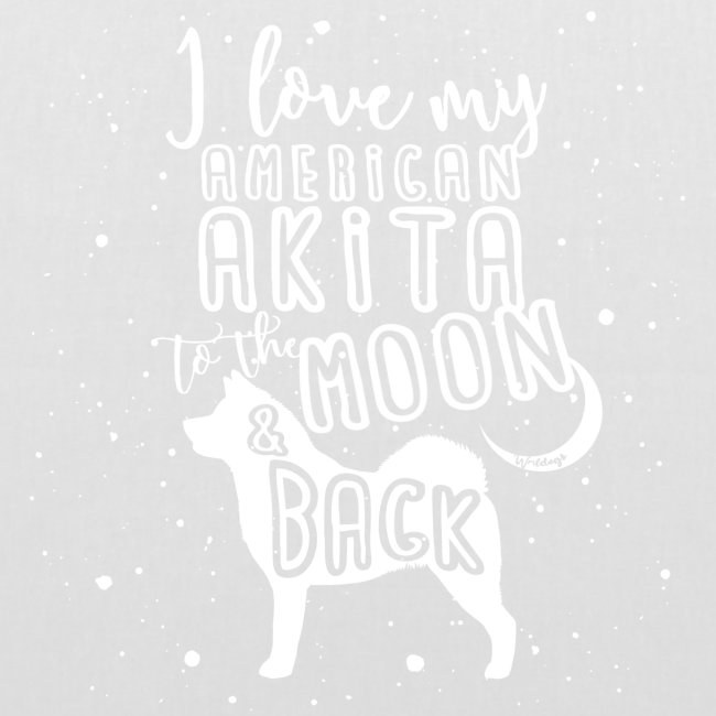 American Akita Moon