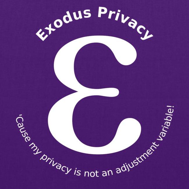 Exodus privacy avec Logo et slogan