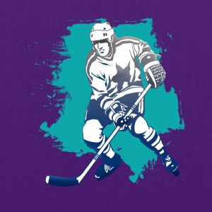 hockey puck hockey player attacking cool polar bears - Tote Bag