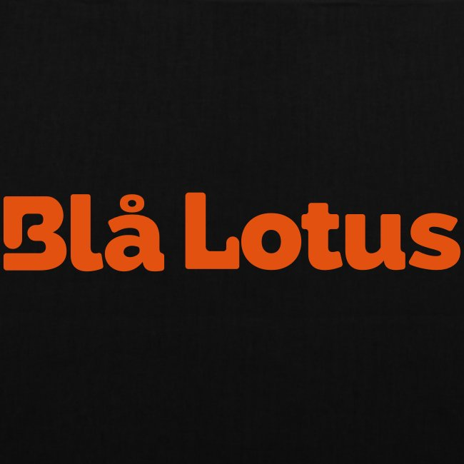 BHlå Lotus lång logga