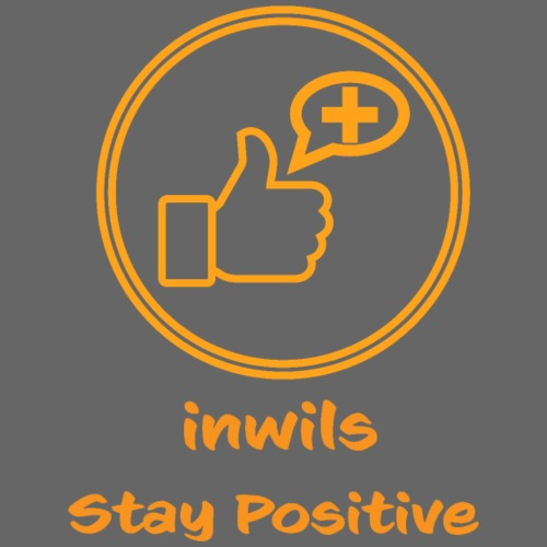 Orange inwils Stay Positive logo - Tote Bag