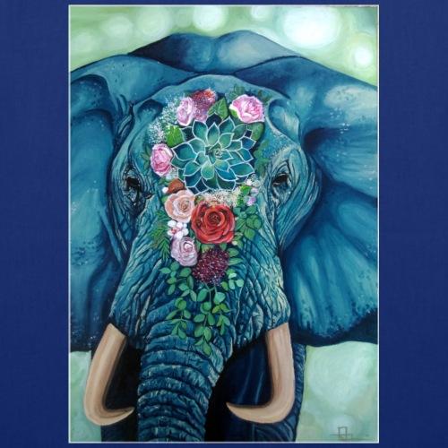 L'éléphant Bleu de Jade - Tote Bag