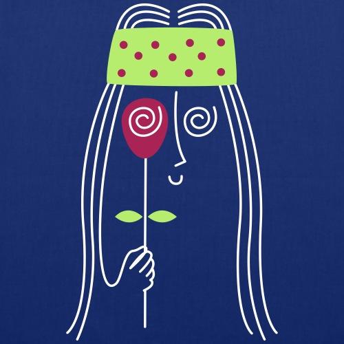 Guiño con Rosa Hippie   Flower Power - Bolsa de tela