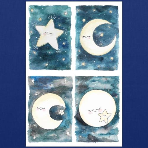 Nursery poster, Luna e Stellina - Borsa di stoffa