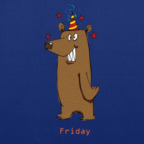 Love Fridays Party Bear for Work Office - Borsa di stoffa
