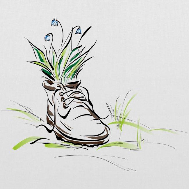 shoe with flowers stevanka