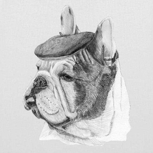 French Bulldog w/beret