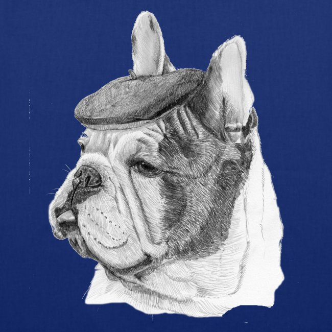French Bulldog w/beret