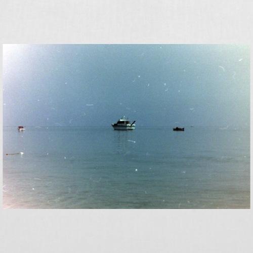 Vintage Fotografie Schiff auf offenem Meer - Stoffbeutel
