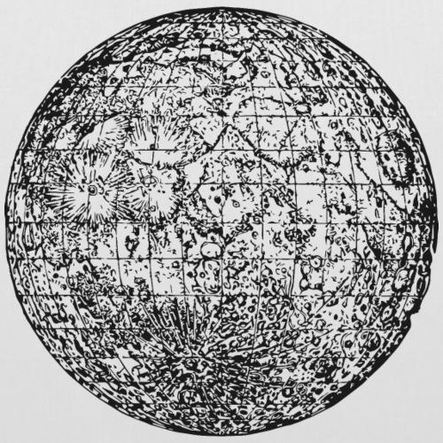 historical moon - Stoffbeutel