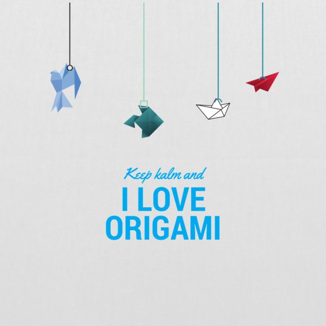 keep kalm and love origami versione estate