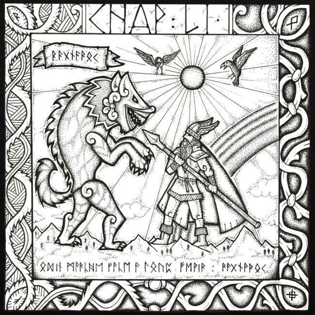 Le Dieu Odin contre le loup Fenrir