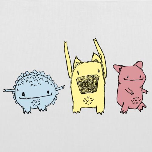 Little Monster friends02 - Stoffbeutel