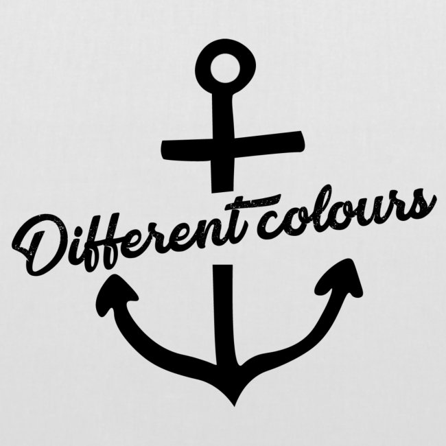 Different Colours Black Logo