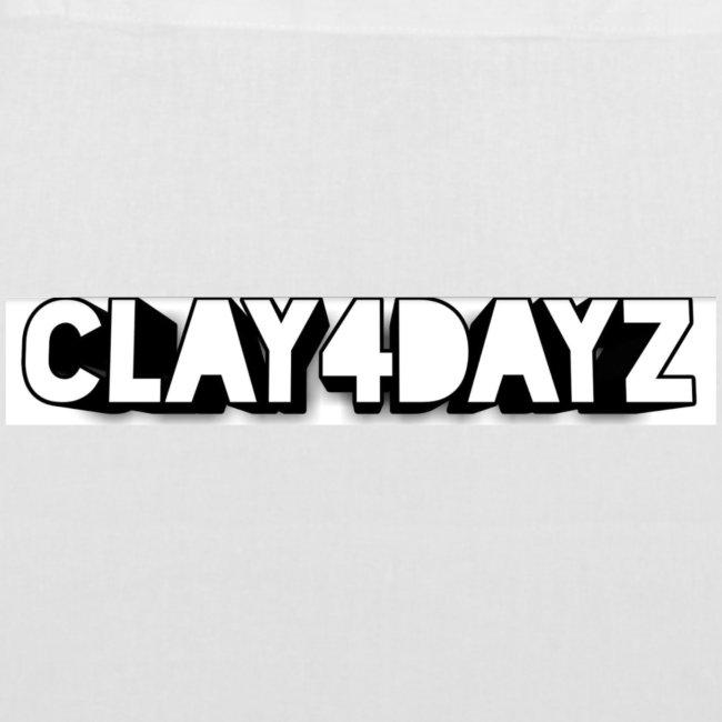 CLAY 4 DAYZ: RECTANGULAR LOGO (BLACK & WHITE)
