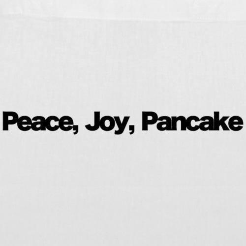 peace joy pankake black 2020 - Stoffbeutel