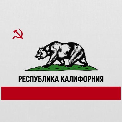 CALIFORNIA REPUBLIC | RUSSIAN CYRILLIC - Borsa di stoffa