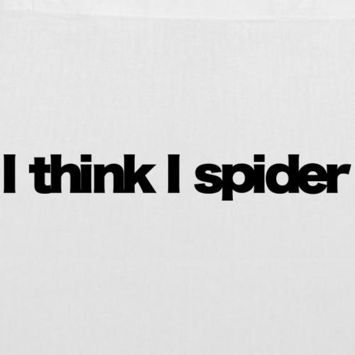 i think i spider black 2020 - Stoffbeutel