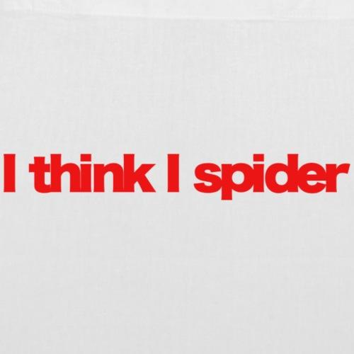 i think i spider red 2020 - Stoffbeutel