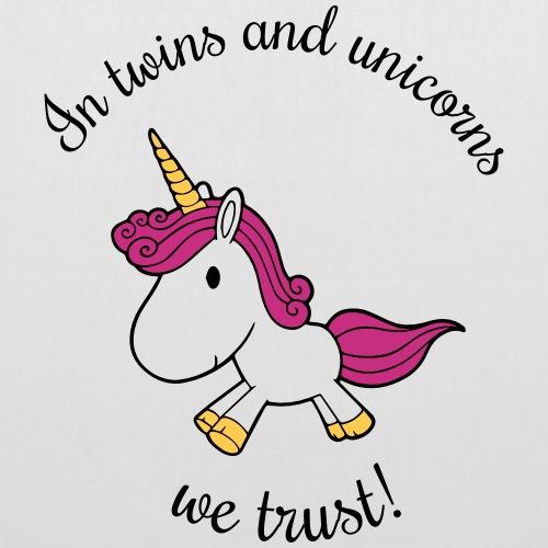 Twins and unicorns - Stoffbeutel