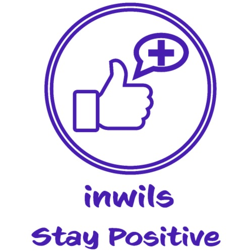 Purple Inwils Stay Positive - Tote Bag