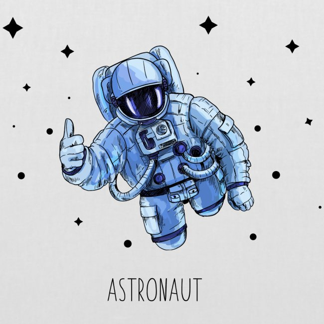 Flying Astr0naut Black