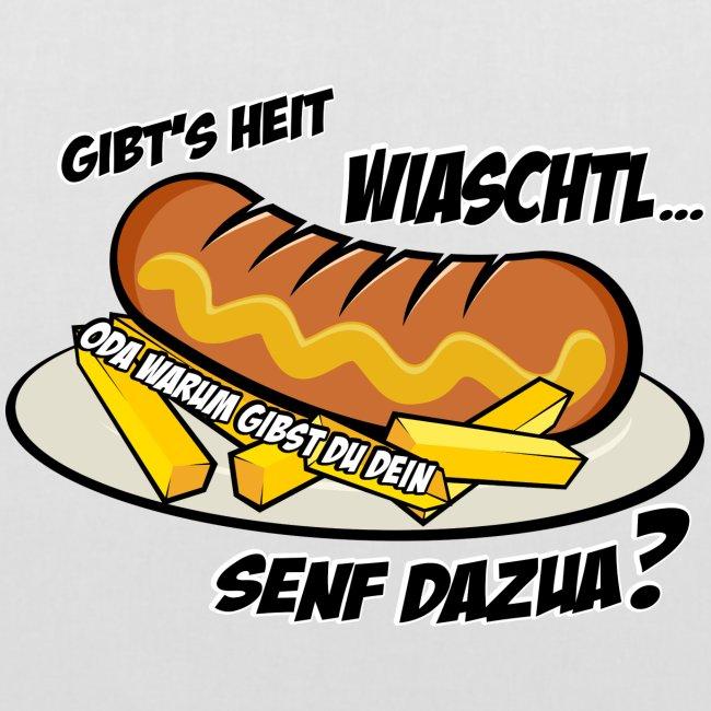 Vorschau: Wiaschtl mit Senf - Stoffbeutel