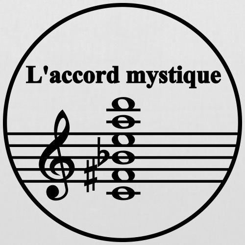 Scriabin L accord mystique - Stoffbeutel