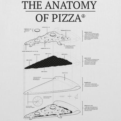 anatomypizza black - Stoffbeutel