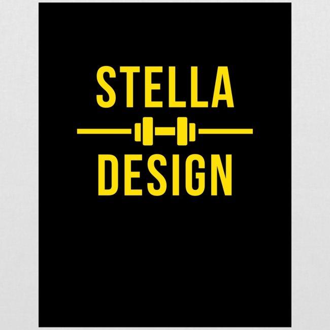 Yellow and Black designer hoodie / bag.