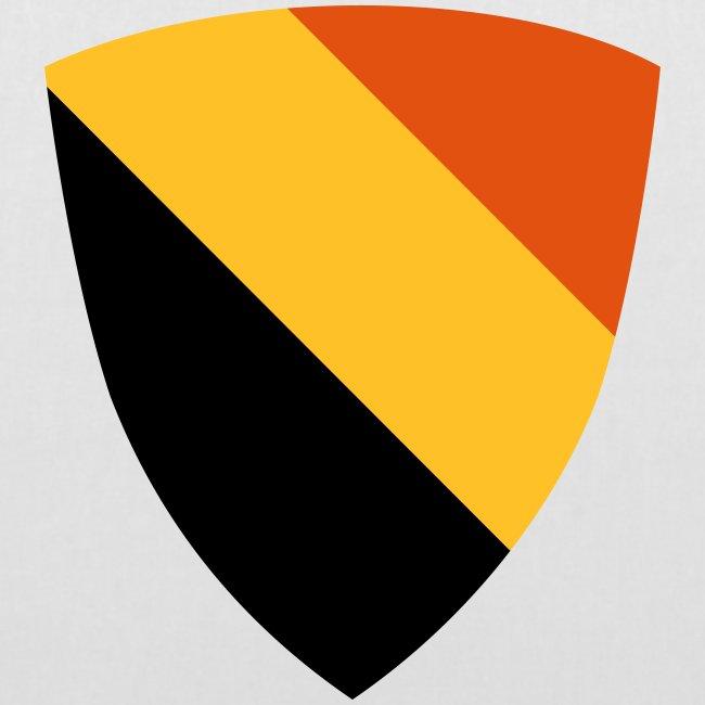 Belgium shield / Belgisch schild - driekleur