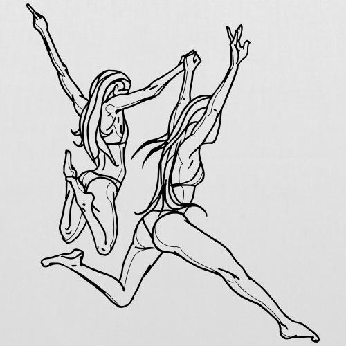 Bikini girls jumping - Tote Bag