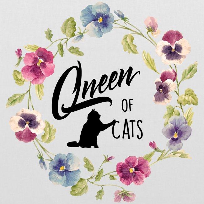 Vorschau: queen of cats - Stoffbeutel