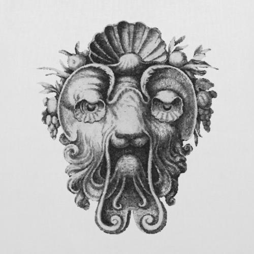 Grotesque Lion Mask - Tote Bag